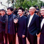 Jackie Chan with the Wushu cast
