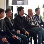 Jackie with Antony Szeto and cast answers some questions for the press