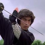 Kurata ready to strike with a traditional katana