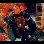 Chen and General Fujita fight their way through fallen leaves