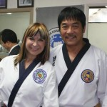 Cynthia Rothrock with her old co star Hwang Jang Lee
