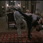 Evasive spinning kick by Jackie