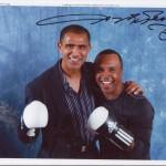 Flashing the smiles Kash with boxing legend Sugar Ray Leonard