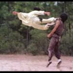 Great flying drop kick Drunken Master
