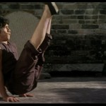 Jackie Chan does the Bruce Lee V sit