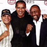 Kash with Roberto Duran and Tommy The Hitman Hearnes