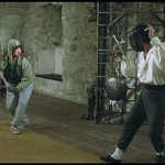 Sammo doing a little training in European fencing