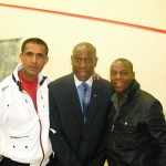 With Frank Bruno and former super featherweight boxing champ Hugh Forde