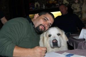 Frank's canine fan!