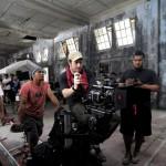 Gareth Evans on the set of The Raid 2 Berendal 2014 Movie Image