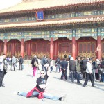Showing off again in the Forbidden City!