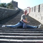 Showing off on the Great Wall!