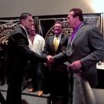 Silvio meets Arnold Schwarzenegger