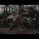Yuen Biao shows off his soccer skills with a coconut