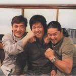 Jackie Chan Kane Kosugi and Kenya Sawada in Tokyo Japan