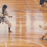 Kenya becoming a 3rd degree black belt in Shorinji Kempo in his teens...