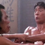 Locked in battle with his arch nemesis in Dragon The Legend of Bruce Lee
