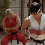 Ryu and Ken train side by side.