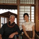 Togo Igawa Master Gotetsu shares a smile with Hyunri Sayaka