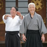 Togo shares a laugh with karate legend Sensei Fumio Demura