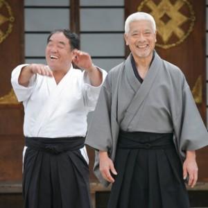 Togo shares a laugh with karate legend -Sensei Fumio Demura