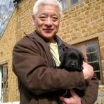 Togo with pet dog