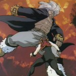 A powerful roundhouse kick