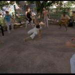 Louis passes on the basics of Capoeira tumbling