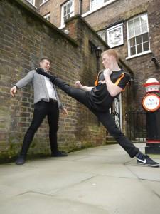 Being flexible is useful for the urban Ninja!