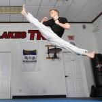 7. Ginger Ninja jumping split kick