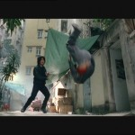 Robin Shou sends this bad guy somersaulting