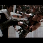Jet Li battles the heavily muscled Silvio Simac in Unleashed