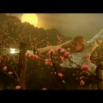 Jet Lis slick saber form in The Shaolin Temple