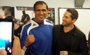 Happy Kickers Kash The Flash and Scott Adkins at SENI