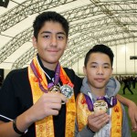 Shaolin students show their medals won