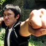 The kung fu master prepares to strike