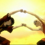 Aang and Zuko perfect the forms of Firebending