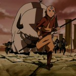 Aang can always count on Appa having his back.