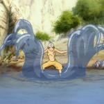 Aangs Waterbending training is going swimmingly