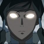Korra awakens the Avatar State