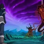 Korra meets the spirit of Darkness Vaatu