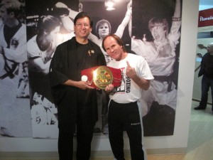 LEGEND Benny The Jet Urquidez with Michael at the MAHM!