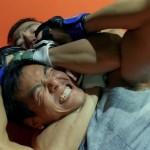 Rear naked choke hold