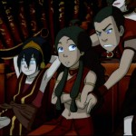 Sokka is displeased with his portrayal in the Fire Nation play...