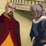 Tenzin has a word with his sister Kya