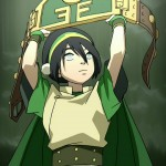 Toph battles other Earthbenders as the Blind Bandit