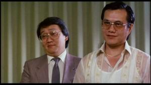 Veteran of Bruce Lees films James Tien plays the big bad boss