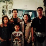 Bolo Yeung L David far R and family