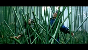 Jin and Mei caught in a bamboo trap