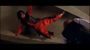 Lin prepares to get the drop on her enemies
